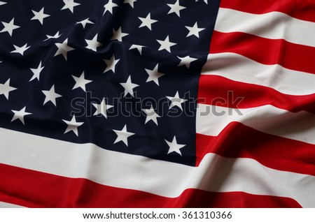 American Flag as background - stock photo