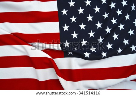 American Flag as background for Clip-Art - stock photo