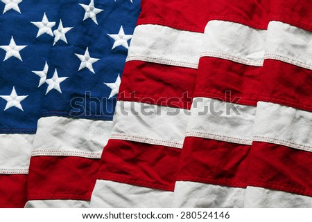 American flag background for Memorial Day or 4th of July - stock photo