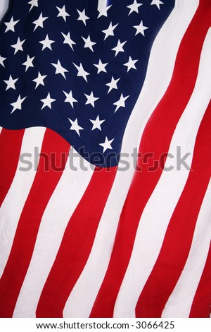American flag background in red, white and blue - stock photo