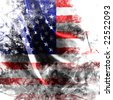 American flag background with a grunge touch - stock photo