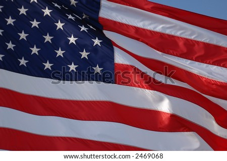 American flag close up - stock photo