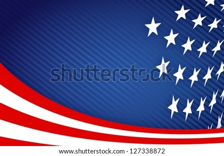 American Flag Design illustration design graphic background - stock photo