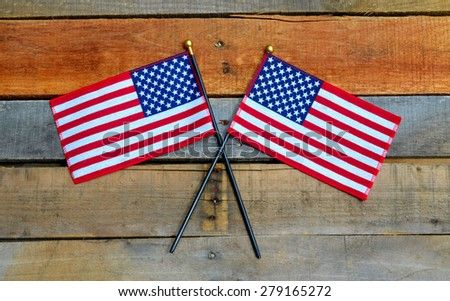 American Flag displayed on pallet boards, Memorial Day, 4th of July