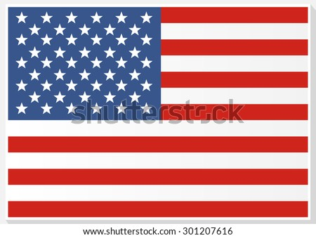 American Flag. Flag of the United States of America. Independence Day.