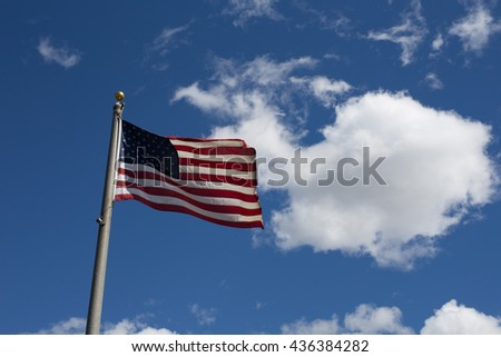American flag for flag day,patriotic,custom,tradition for american spirit and sign for independence day,country,holiday