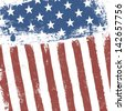 American flag grunge background. Raster version, vector file available in portfolio. - stock photo