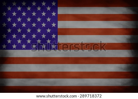American flag in black board backgrounds style.grunge flag concept, usa memorial concept. - stock photo