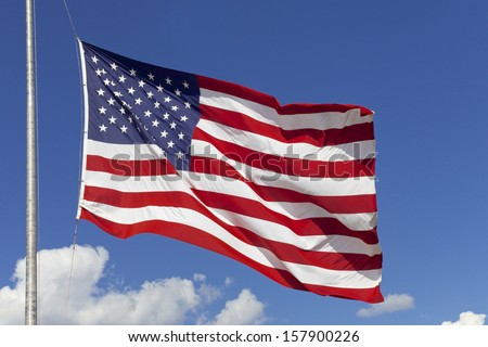 American flag, United States of America - stock photo