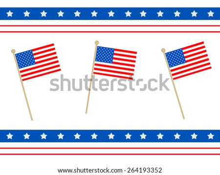 American Flags - Celebrate -  - stock photo