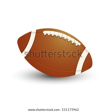 American Football ball icon on white background