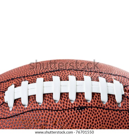 American football ball. Isolated on white background.