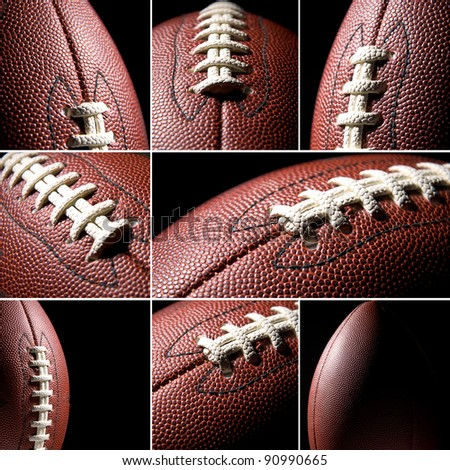 American football collage - stock photo