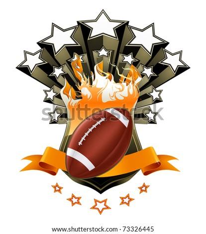 American Football Emblem, bitmap copy - stock photo