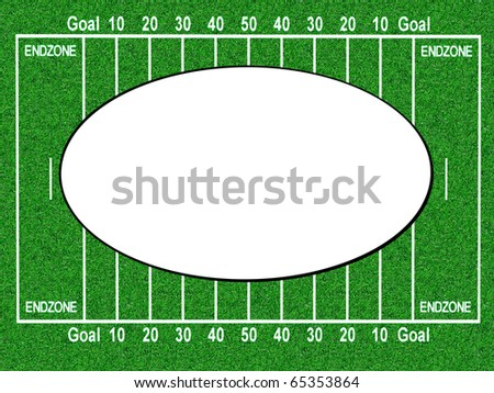 American football field frame - stock photo