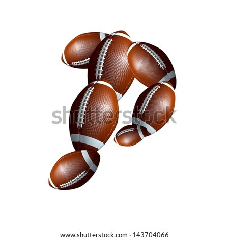 american football icon alphabet capital letter P
