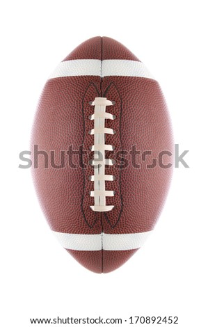 American Football isolated on white. - stock photo