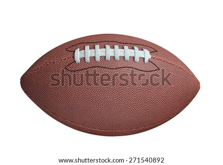 American football isolated on white background - stock photo