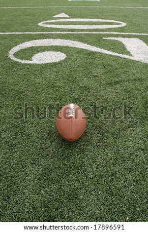 American football near the Twenty - stock photo