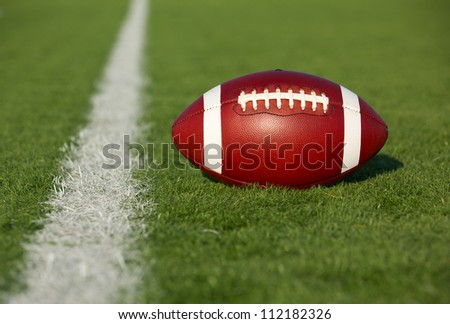 American Football near the Yard Line