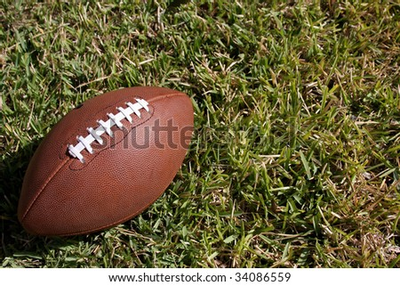 American football on the grass