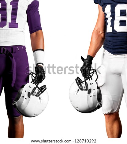 American Football Players - stock photo