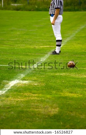 American football referee - Judge concept - stock photo