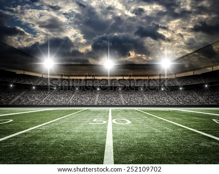 american football satdium - stock photo