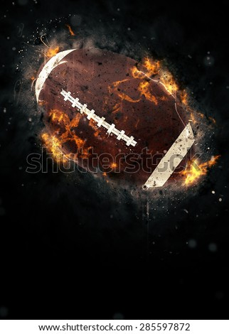 American football sport poster or flyer background with space - stock photo