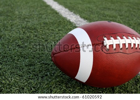 American Football with the Field - stock photo