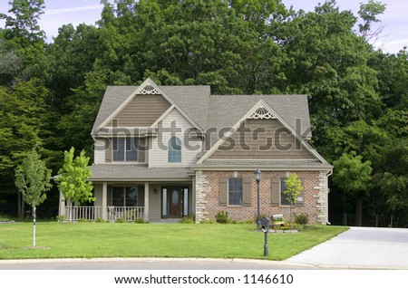 American Home 3 - stock photo