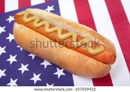 American hot dog - stock photo