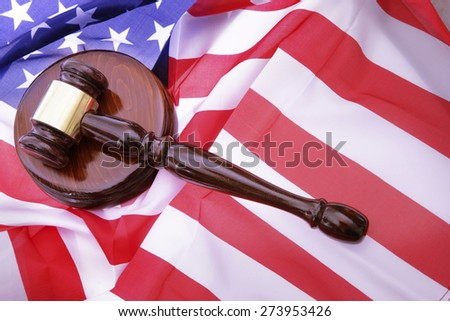 American Law - Gavel - stock photo