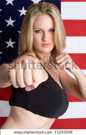 American Martial Arts Woman - stock photo