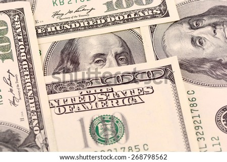 american money dollars  - stock photo