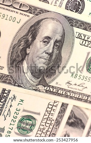 american money dollars close up - stock photo