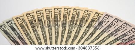 American Money, new Dollar bills - stock photo
