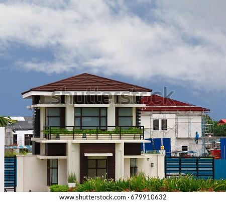american motif modern design house in alabang philippines - House Designs Alabang Philippines