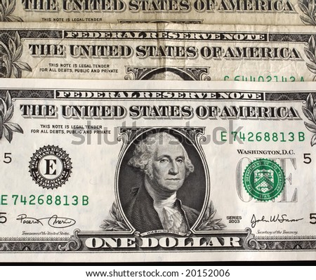 american one-dollar background