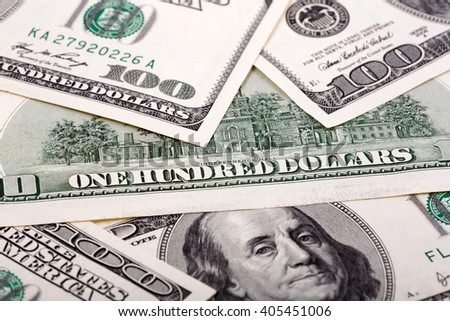 American one hundred dollars, a background  - stock photo