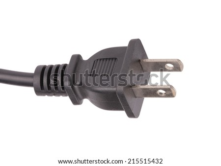 American Outlet Plug with Cord Isolated - stock photo