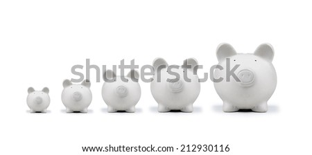 american pig money box isolated - stock photo