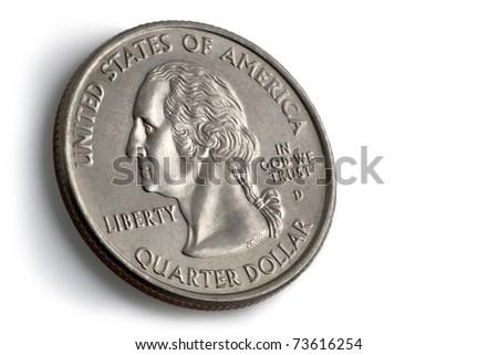American quarter dollar coin - stock photo