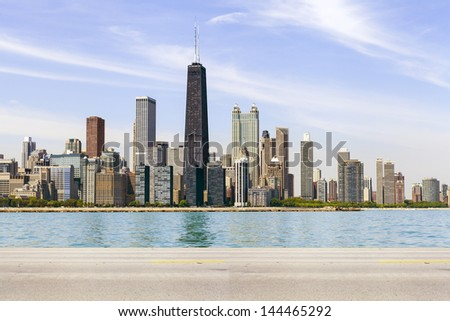 American Road (Side View) - stock photo