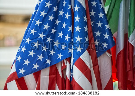 american stars and stripes flag waving