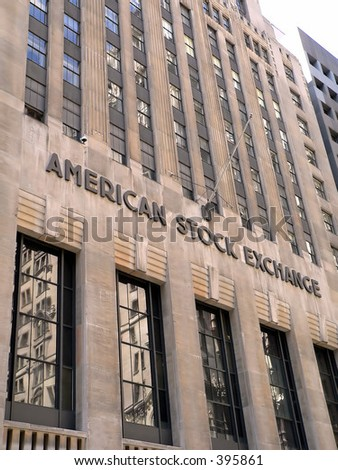 American Stock Exchange in Manhattan, New York City