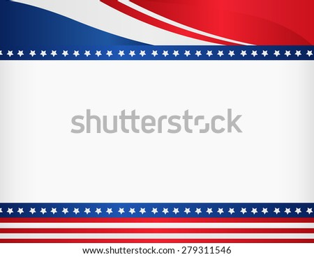 American / USA patriotic frame with empty space on center A traditional vintage american poster design - stock photo