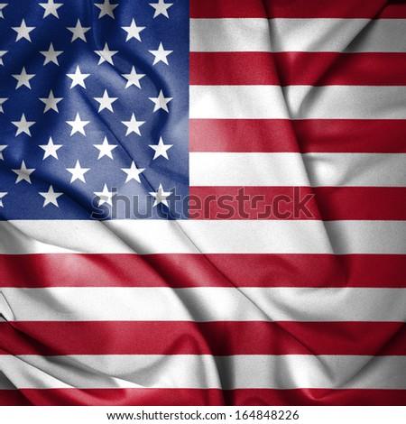 American Waving Flag - stock photo
