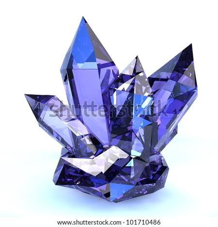 amethyst crystal - stock photo
