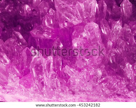 amethyst geode crystals, geological mineral isolated  - stock photo